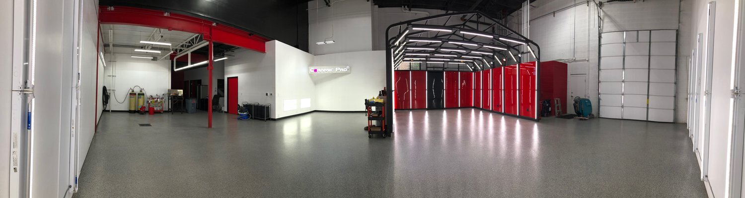 The Detail BOSS facility. Exceptionally Clean, Bright, and climate controlled. Fitted perfect for the fellow car enthusiast's needs
