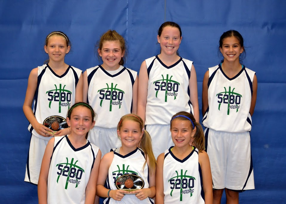 Top Row Left to Right-Maddie Sassman, Kylie Franci, Kyra Roach, Christina Martinez.  Bottom Row: Zoe Snow, Maddie Duren,