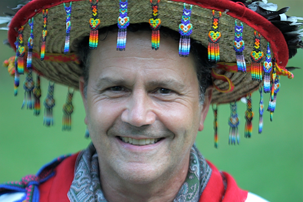 As a  marakame , Lawrence Messerman offers traditional shamanic healing treatments.