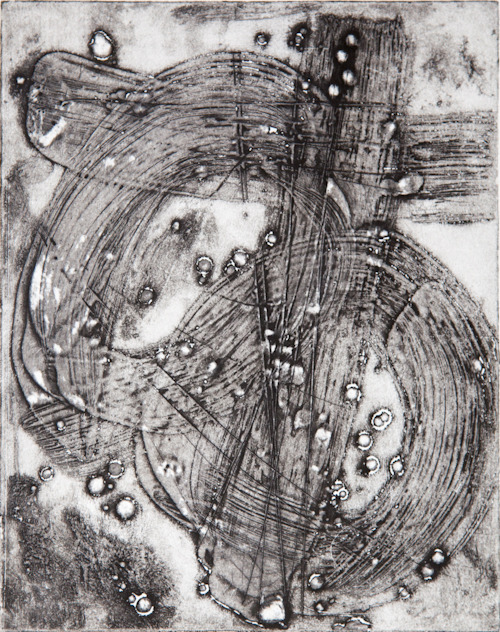 """Wax collagraph with Akua ink 8""""x10"""""""