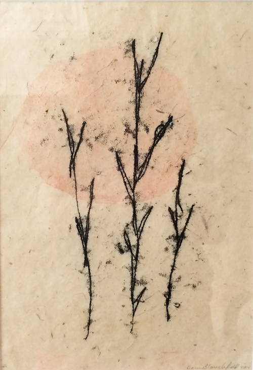"""Monotype. 9""""x13"""" on mulberry paper."""