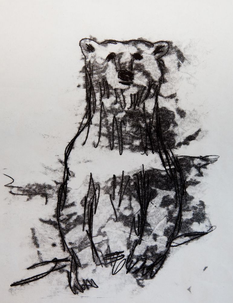 Trace monotype. Akua ink on mulberry paper.