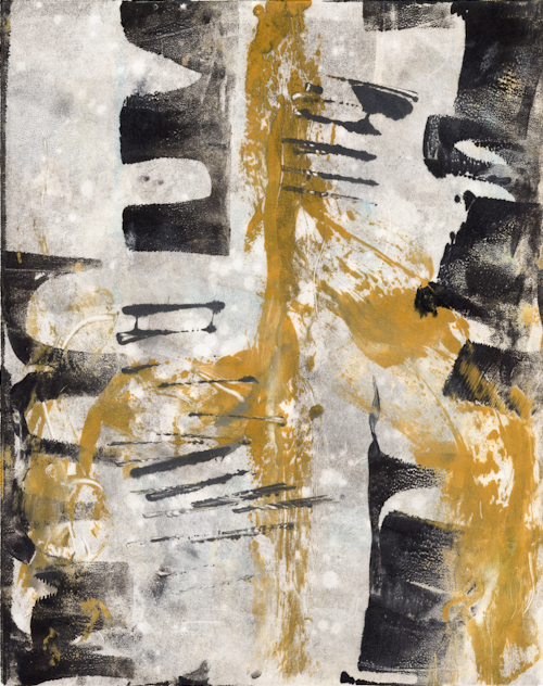 """Monotype. Akua ink on mulberry paper. 8""""x10"""""""