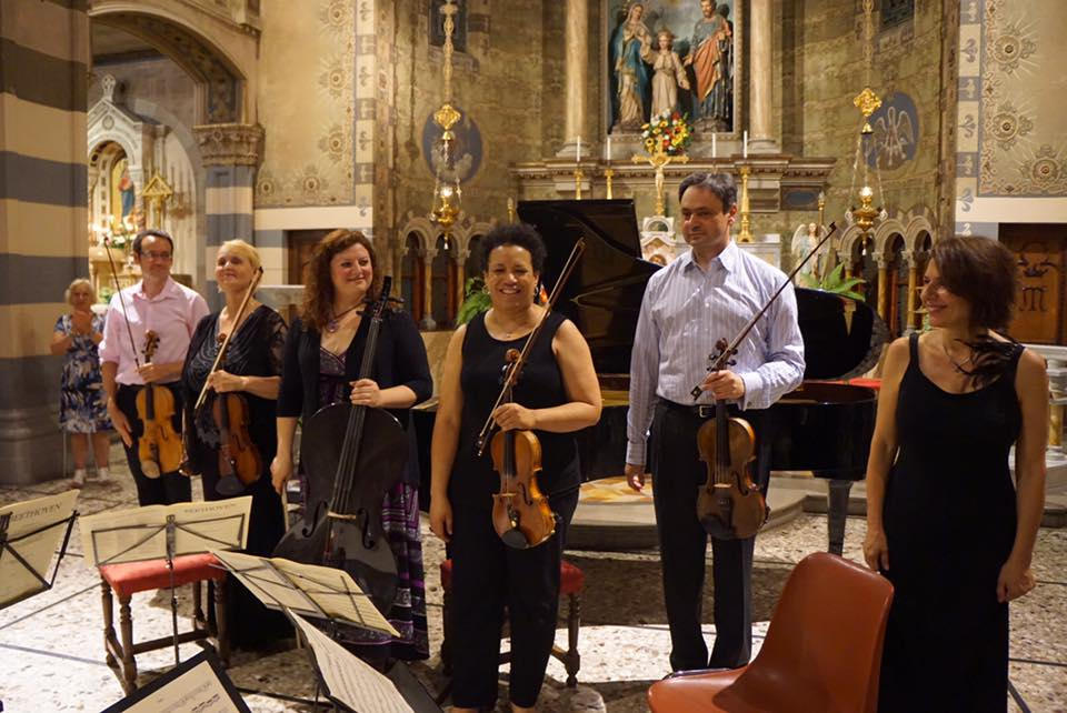 With fellow faculty at the Interharmony Music Festival in Italy
