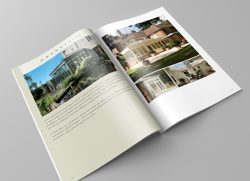 Our brochure design for Parish Conservatories reflects their beautiful architectural work