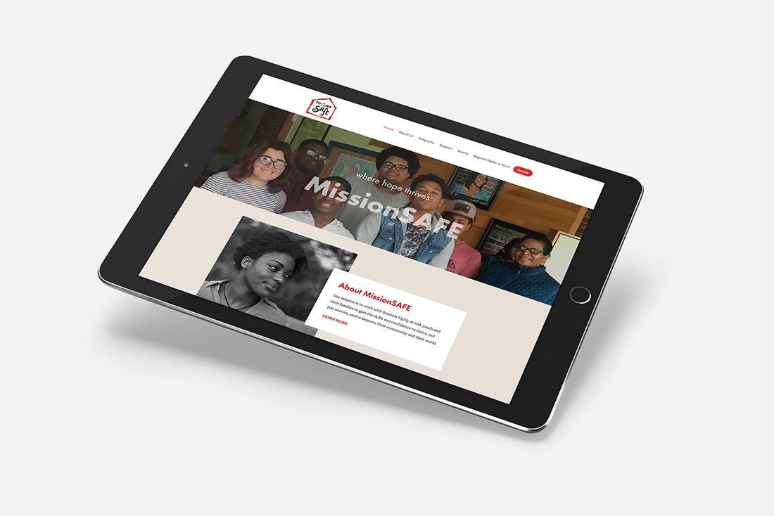 NONPROFIT WEBSITE FOR MISSIONSAFE BY DESIGNSITE