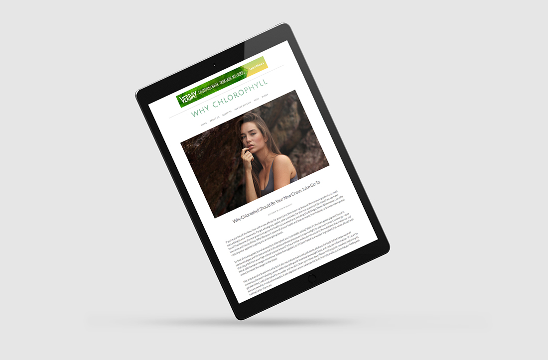 Designsite Branding, Website Design and Digital Marketing for Chlorophyll Health and Beauty Benefits