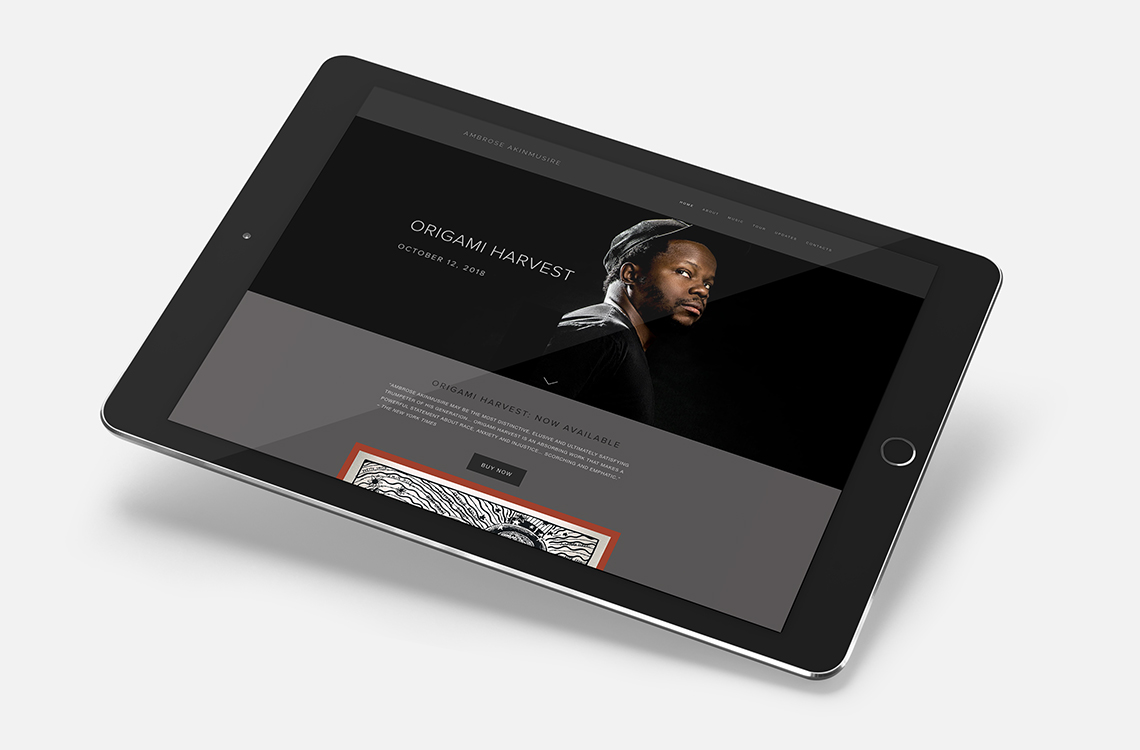 Designsite Brands and Designs a Music Website for Jazz Great Ambrose Akinmusire