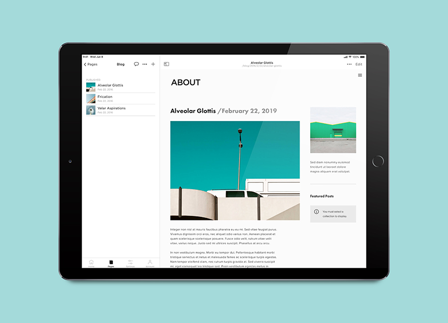 THE NEW SQUARESPACE APP LETS YOU UPDATE YOUR WEBSITE ANYWHERE