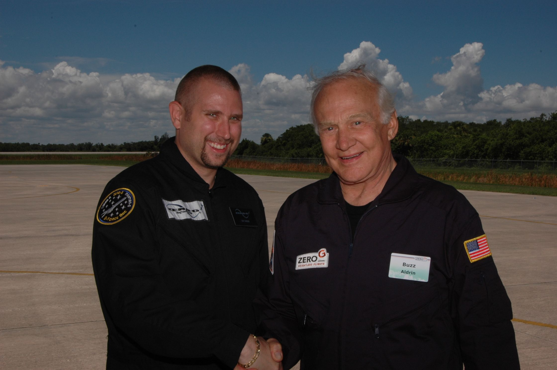 Me with Buzz Aldrin after our Zero-G flight