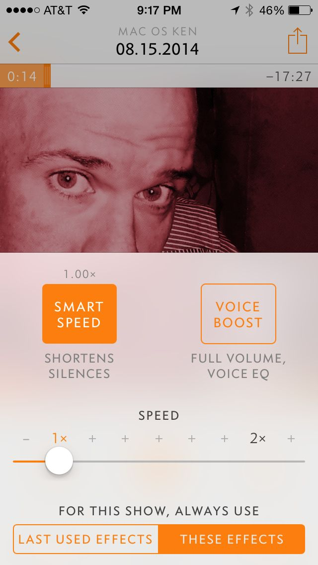 "Playback speed, ""Smart Speed"", Voice Boost and options for how you want these preferences applied"