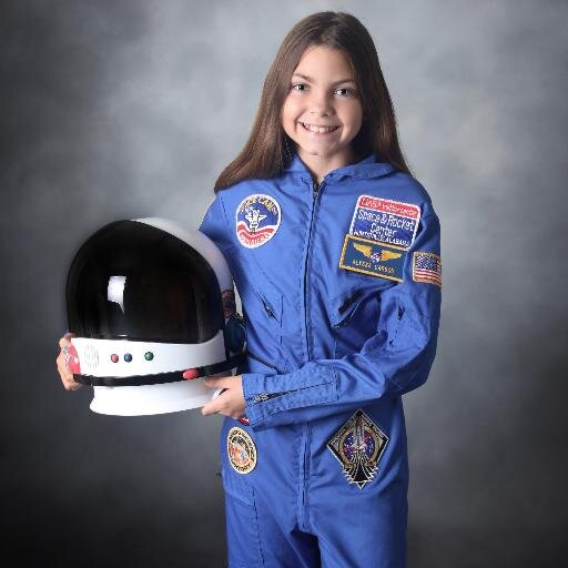 13 year-old Alyssa Carson wants to be the 1st person on Mars (Picture Source: Twitter)