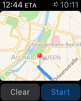 Apple Watch Map Interface