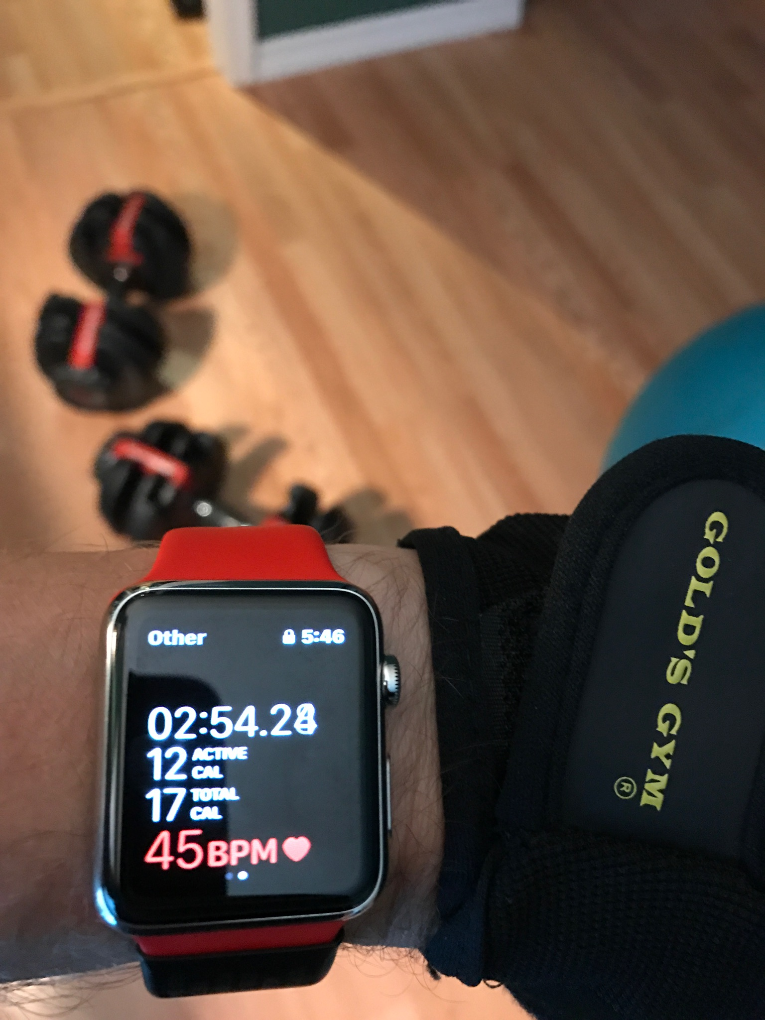 I'm lucky to get my heart rate this low while I am sleeping, much less lifting weights!