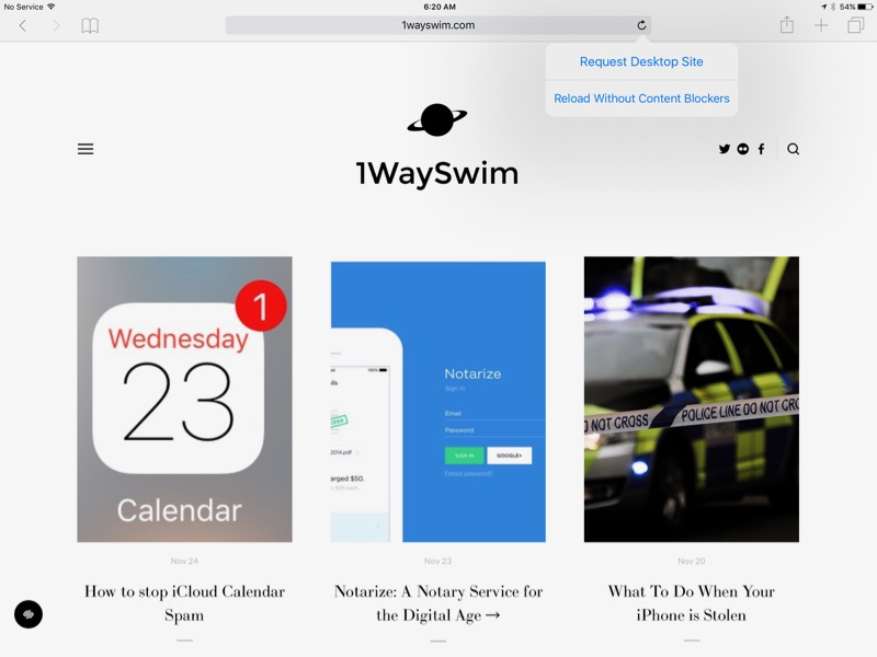 """How to view a website in a non-mobile """"Desktop"""" format in iOS"""