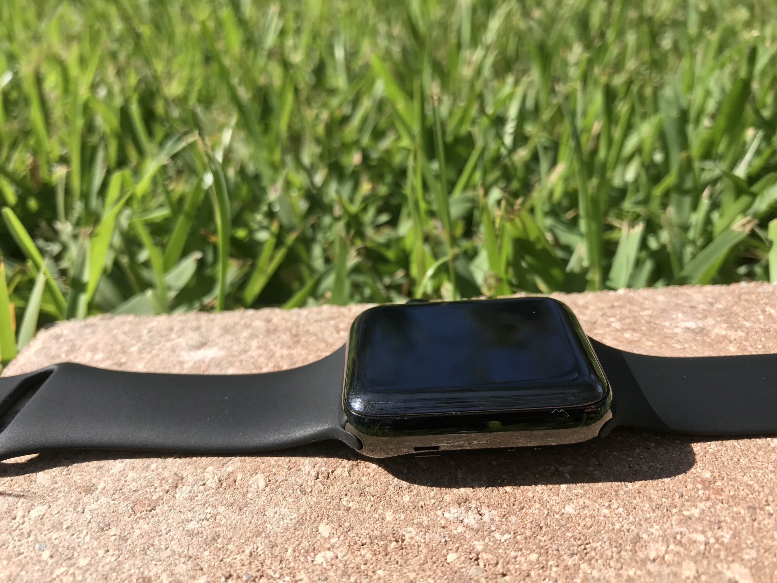 As you would expect, the black sports band that came with the watch looks great with the black stainless steel.