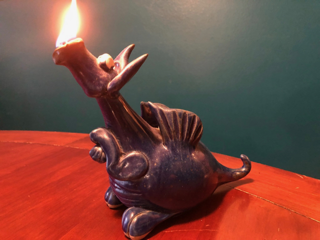The little dragon oil lamp that started it all...