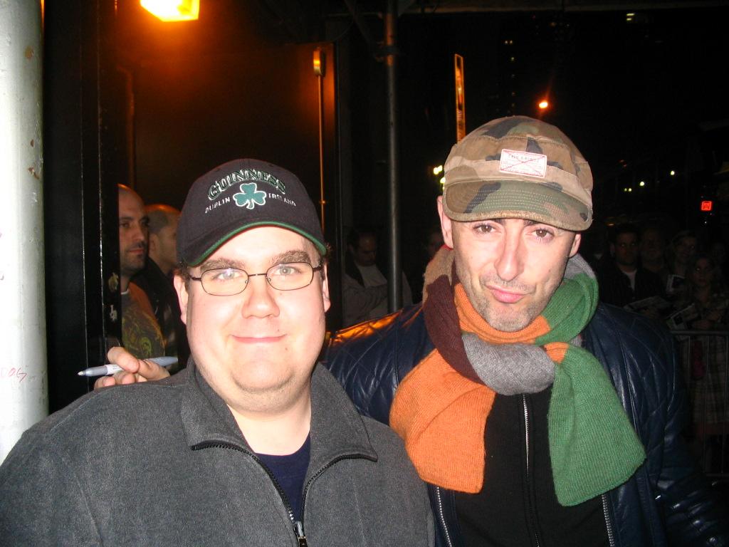 Matt with actor Alan Cumming