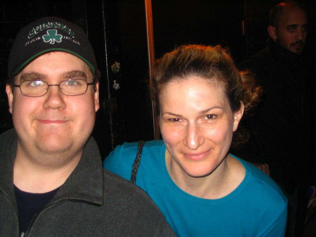 Matt with actor Ana Gasteyer