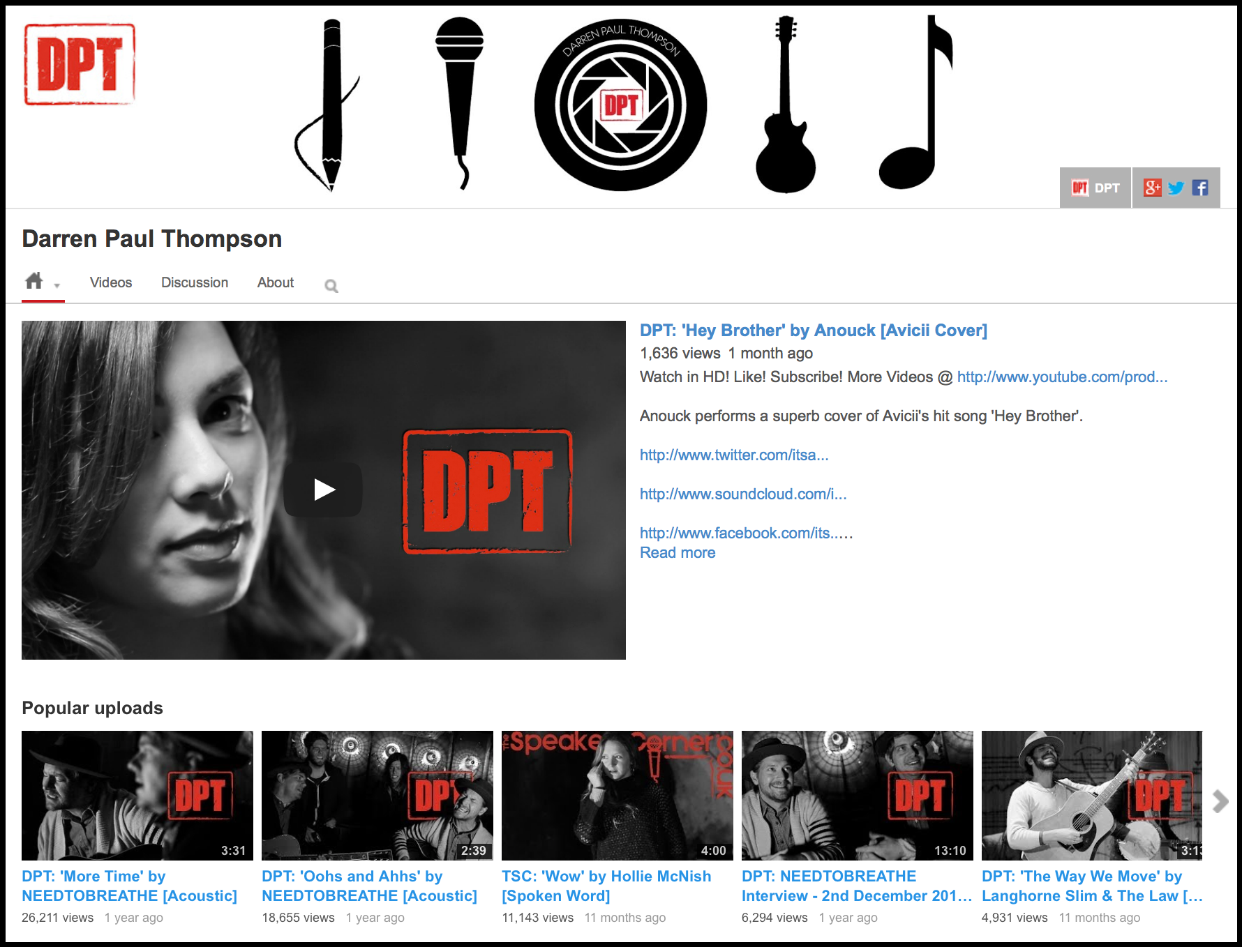 DPT YouTube ReDesign Screenshot.png