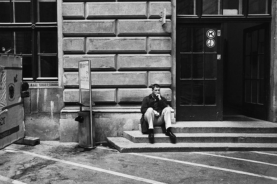 student waiting