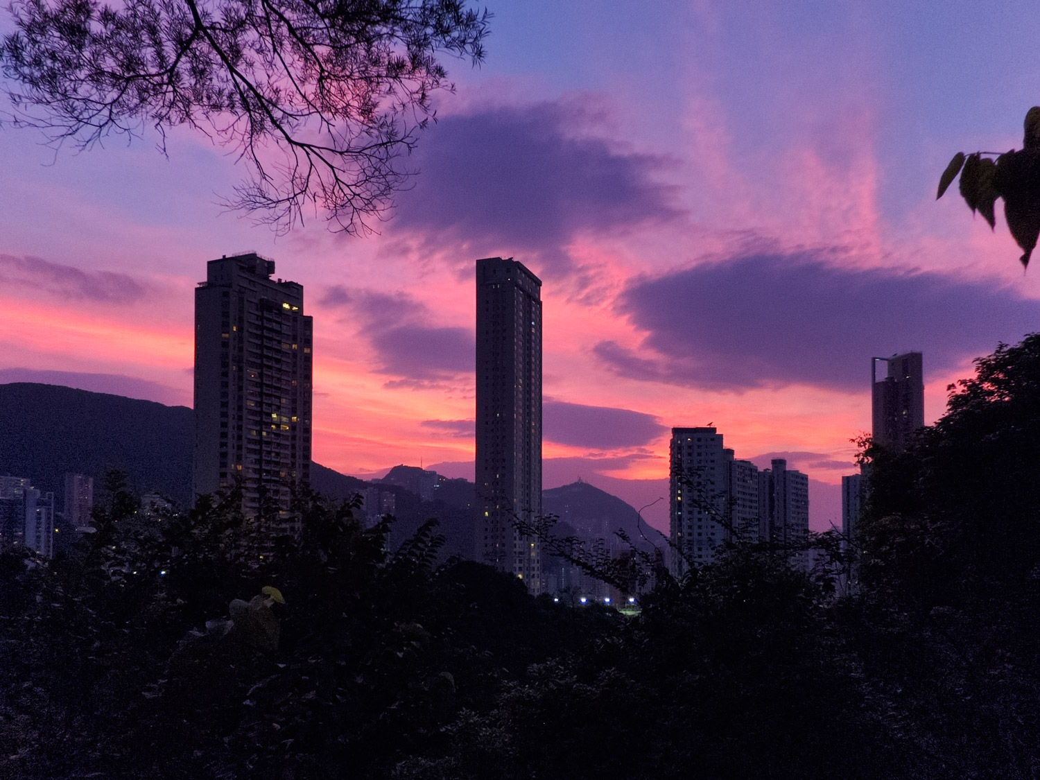 Evening Sky Over Hong Kong Island