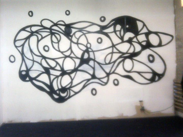 """Borodino"" [Acrylic on prepared drywall (Quad.1, Ph.2)]"
