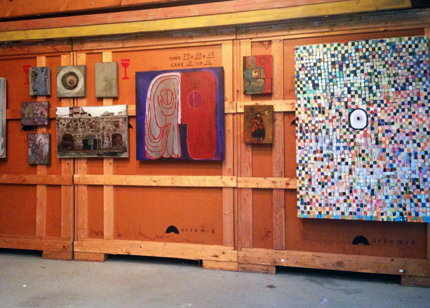 Installation view of SLAG group show in the Hamptons (Photo by Irina Protopopescu)