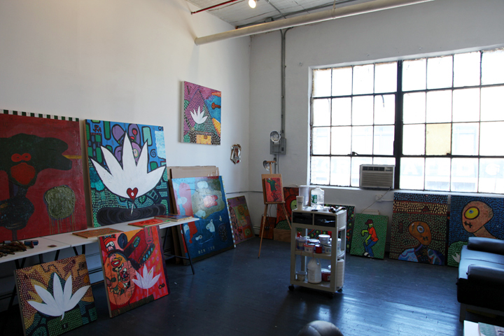 A scene from AFH BOS2013 at Brooklyn Fire Proof, which included wall paintings by Shane Kennedy for the Society for the Prevention of Creative Obsolescence (not pictured).