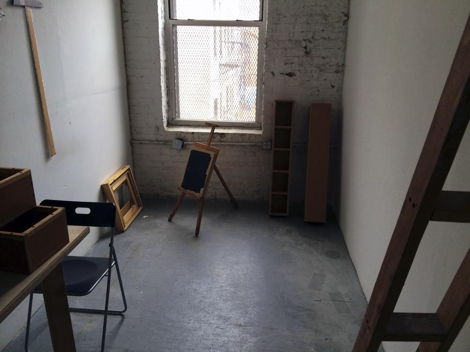 A view of my new Bushwick studio.