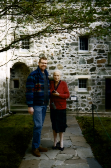 With the Lady MacLean at Duart Castle (1995)