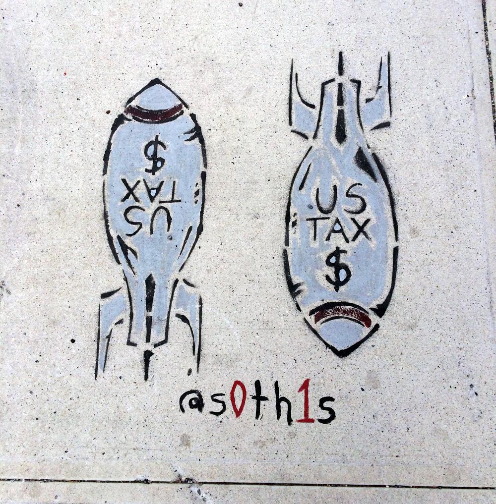 Bushwick sidewalk tag, 2017 (PJM)
