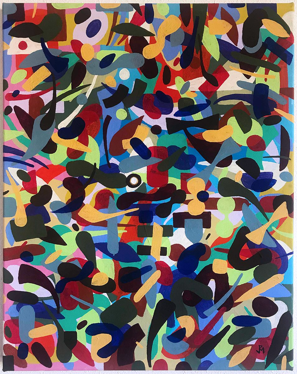 "Currents, Flow and Reproduction Series #3 Vinyl on Canvas 20"" x 16"" $1450"