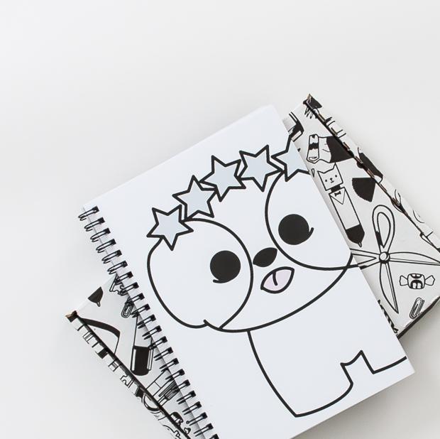 Shih Tzu Puppy with Star Crown Spiral Notebook | Elke + Blue | MeetMinnie.