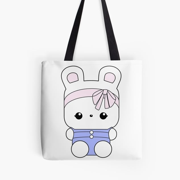 Esme tote bag featuring art from our newest books, A Very Cute Day with Esme and A Very Cute Day with Esme Coloring Book! Tote bag from our Elke + Blue collection at Redbubble. See link in bio for more info. #Redbubble #tote #bag #kawaii #bunny #rabbit #cute #pink #blue #pastel #love #travel #selfie #totebag #rabbits #bunnies #bunniesofinstagram #elkeandbluebunny #elkeandblue #illustration #art #artwork #book #bookstagram #books  #childrensbook #picturebook #kids #reading #meetminniepublishing