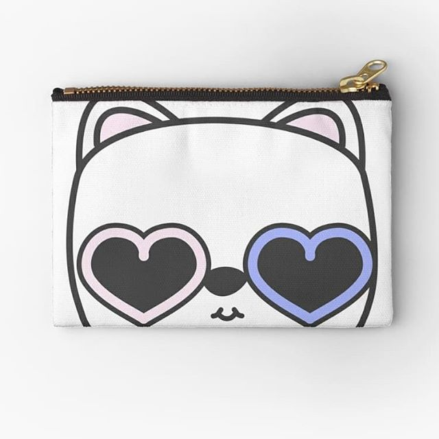 Cool kitty studio pouch from our Elke + Blue collection at Redbubble. Illustration from our children's book, The And Book. See link in bio for more info. #Redbubble #pouch #bag #fashion #style #accessories #bags #fun #cute #happy #love #pink #blue #travel #illustration #kawaii #picturebook #childrensbook #beauty #makeup #art #artwork #cat #kitten #kitty #catsofinstagram #cats #sunglasses #hearts #heart