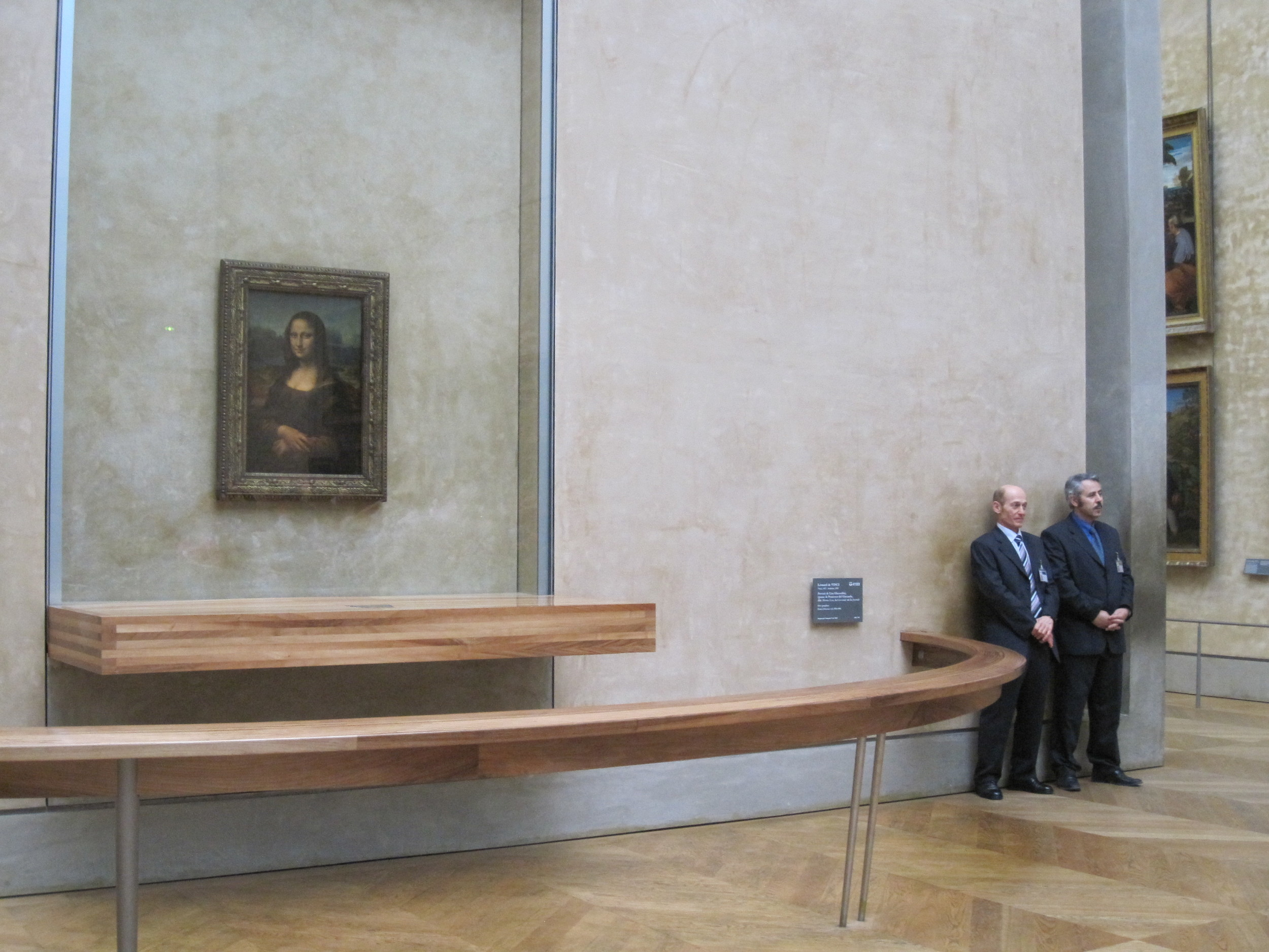 I've seen her four times, and with each visit the security and crowds were more outrageous. The last time we visited the Louvre, I didn't even bother trying to elbow my way into the room.