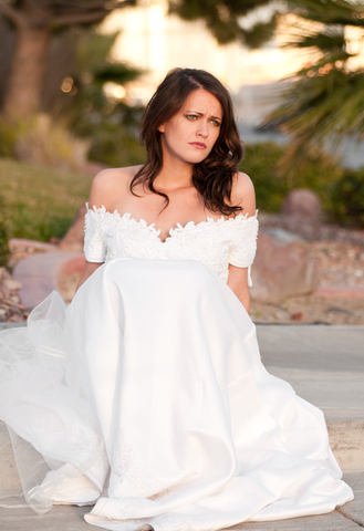A disappointed bride is never good.