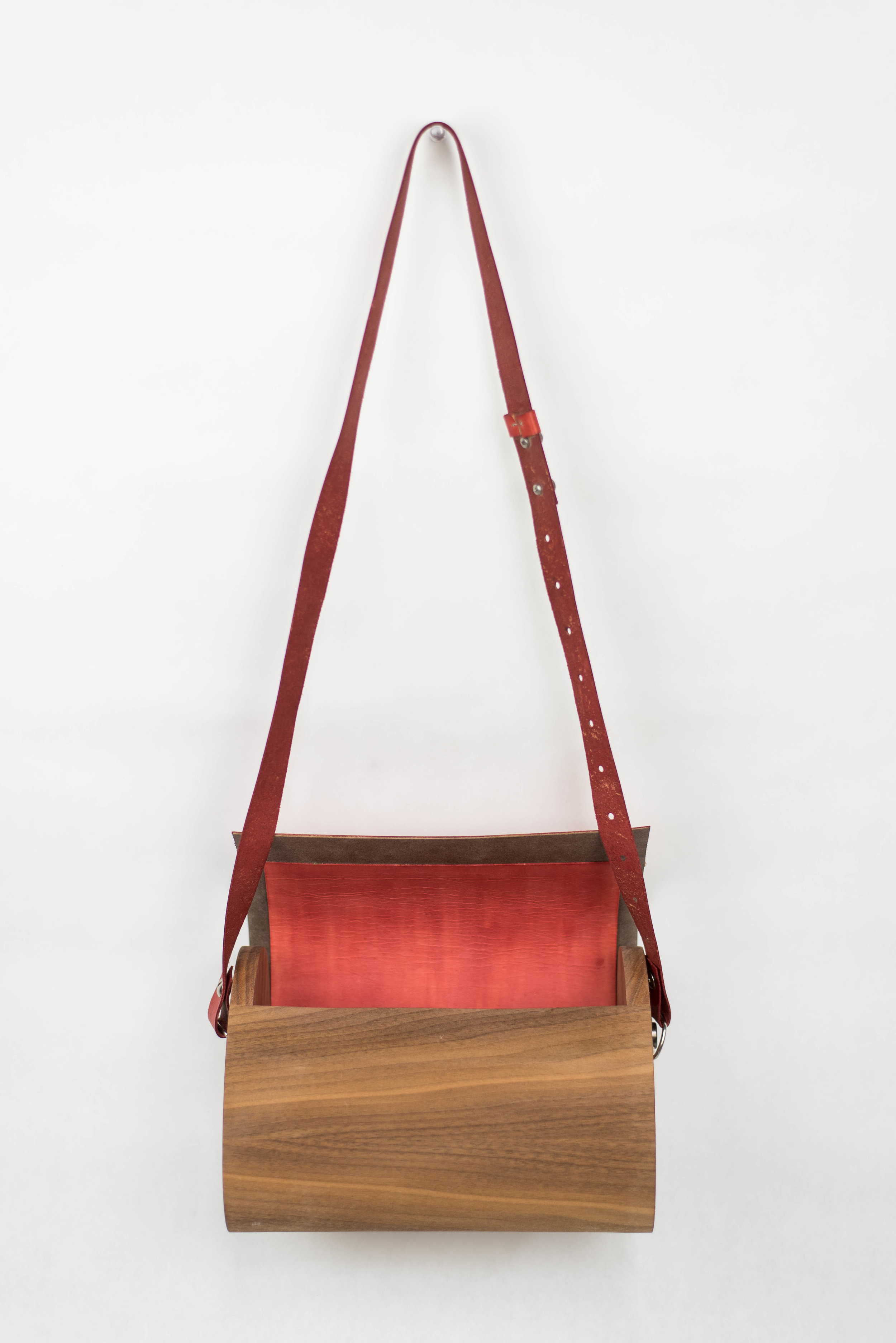Walnut with Red Leather