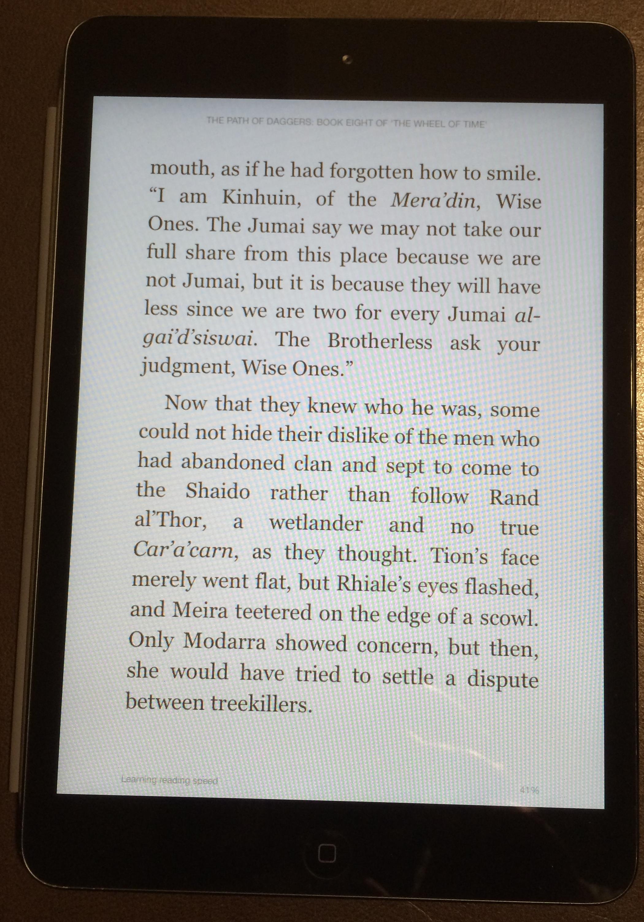 iPad mini, Kindle app