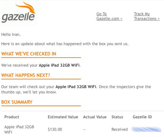 Sold: 32 GB WiFi iPad, 1st generation