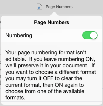 Header & Footer Page Number Message