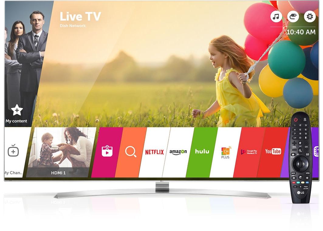 LG Smart TV webOS Interface