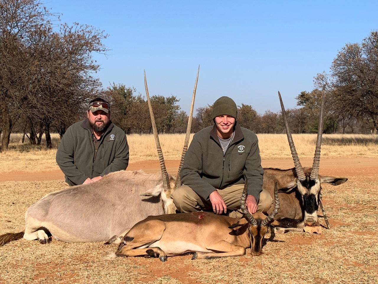 Jason, Golden & Red Gemsbok/Trace, Saddleback Impala