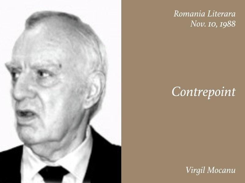 Essays — Contrepoint, Virgil Mocanu