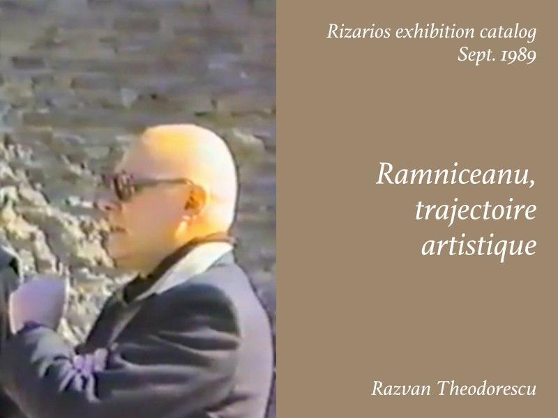 Essays — Stefan Ramniceanu trajectoire artistique, Razvan Theodorescu