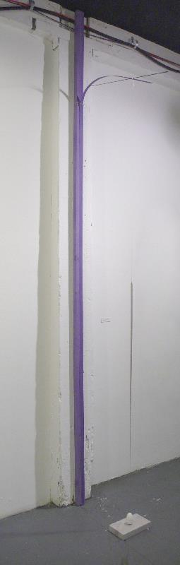 Untitled  , wood and string, 12' height, 2012