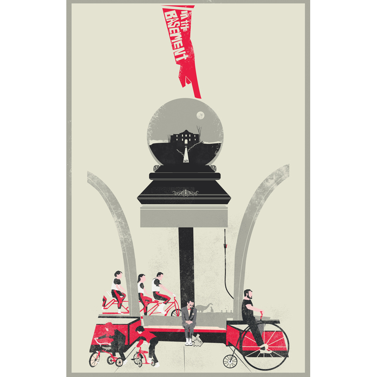 """The Alamo   A Tribute to Pee Wee Herman  1 of 2 pieces for Gallery 1988's show """"I Know You Art, But What Am I?""""  11"""" by 17"""" Digital Print (unframed)  Hand Signed & Numbered through 100   $25.00"""