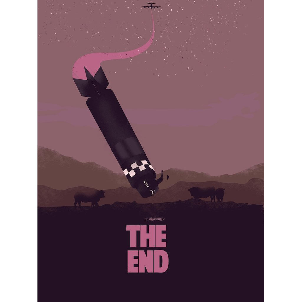"""We'll Meet Again  Hero Complex Gallery's Weapon of Choise art show.  Inspired by DrStrangelove  Giclee 18"""" x 24"""" edition of 50"""