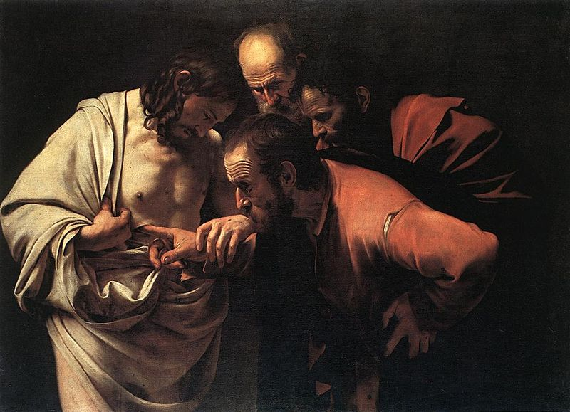 "Caravaggio's, ""The Incredulity of Saint Thomas"""